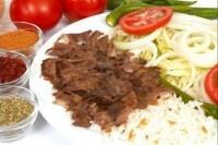 Kebab talerz z ryzem